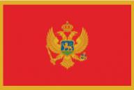 montenegro, flag, national flag